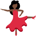 Woman Dancing: Dark Skin Tone on Twitter Twemoji 12.1
