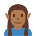 Elf: Medium-Dark Skin Tone on Twitter Twemoji 12.1