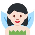 Fairy: Light Skin Tone on Twitter Twemoji 12.1
