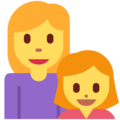 Family: Woman, Girl on Twitter Twemoji 12.1