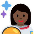 Woman Astronaut: Dark Skin Tone on Twitter Twemoji 12.1
