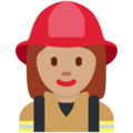 Woman Firefighter: Medium Skin Tone on Twitter Twemoji 12.1