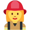 Woman Firefighter on Twitter Twemoji 12.1