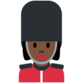 Woman Guard: Dark Skin Tone on Twitter Twemoji 12.1