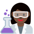 Woman Scientist: Dark Skin Tone on Twitter Twemoji 12.1