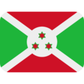 Flag: Burundi on Twitter Twemoji 12.1