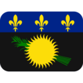Flag: Guadeloupe on Twitter Twemoji 12.1