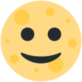 Full Moon Face on Twitter Twemoji 12.1