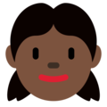 Girl: Dark Skin Tone on Twitter Twemoji 12.1