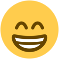 Beaming Face With Smiling Eyes on Twitter Twemoji 12.1