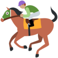 Horse Racing: Medium Skin Tone on Twitter Twemoji 12.1