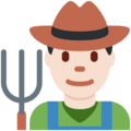 Man Farmer: Light Skin Tone on Twitter Twemoji 12.1
