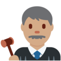 Man Judge: Medium Skin Tone on Twitter Twemoji 12.1