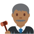 Man Judge: Medium-Dark Skin Tone on Twitter Twemoji 12.1