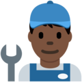 Man Mechanic: Dark Skin Tone on Twitter Twemoji 12.1