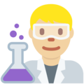 Man Scientist: Medium-Light Skin Tone on Twitter Twemoji 12.1