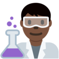 Man Scientist: Dark Skin Tone on Twitter Twemoji 12.1