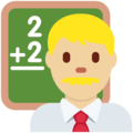 Man Teacher: Medium-Light Skin Tone on Twitter Twemoji 12.1