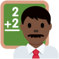 Man Teacher: Dark Skin Tone on Twitter Twemoji 12.1