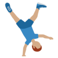 Man Cartwheeling: Medium Skin Tone on Twitter Twemoji 12.1