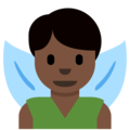 Man Fairy: Dark Skin Tone on Twitter Twemoji 12.1