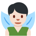 Man Fairy: Light Skin Tone on Twitter Twemoji 12.1