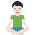 Man in Lotus Position: Light Skin Tone on Twitter Twemoji 12.1
