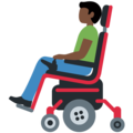 Man in Motorized Wheelchair: Dark Skin Tone on Twitter Twemoji 12.1