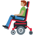 Man in Motorized Wheelchair: Medium Skin Tone on Twitter Twemoji 12.1