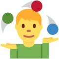 Man Juggling on Twitter Twemoji 12.1