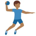 Man Playing Handball: Medium-Dark Skin Tone on Twitter Twemoji 12.1