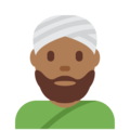 Man Wearing Turban: Medium-Dark Skin Tone on Twitter Twemoji 12.1