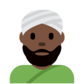 Person Wearing Turban: Dark Skin Tone on Twitter Twemoji 12.1