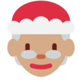 Mrs. Claus: Medium Skin Tone on Twitter Twemoji 12.1