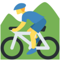 Person Mountain Biking on Twitter Twemoji 12.1