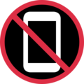 No Mobile Phones on Twitter Twemoji 12.1