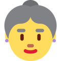 Old Woman on Twitter Twemoji 12.1