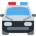 Oncoming Police Car on Twitter Twemoji 12.1