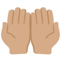 Palms Up Together: Medium Skin Tone on Twitter Twemoji 12.1