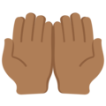 Palms Up Together: Medium-Dark Skin Tone on Twitter Twemoji 12.1