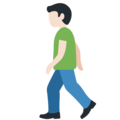 Person Walking: Light Skin Tone on Twitter Twemoji 12.1
