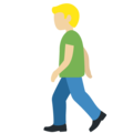 Person Walking: Medium-Light Skin Tone on Twitter Twemoji 12.1