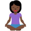 Person in Lotus Position: Dark Skin Tone on Twitter Twemoji 12.1