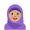 Woman With Headscarf: Medium Skin Tone on Twitter Twemoji 12.1