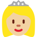 Princess: Medium-Light Skin Tone on Twitter Twemoji 12.1