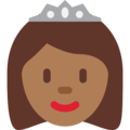 Princess: Medium-Dark Skin Tone on Twitter Twemoji 12.1