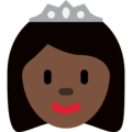 Princess: Dark Skin Tone on Twitter Twemoji 12.1