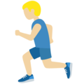 Person Running: Medium-Light Skin Tone on Twitter Twemoji 12.1
