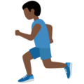 Person Running: Dark Skin Tone on Twitter Twemoji 12.1