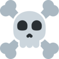 Skull and Crossbones on Twitter Twemoji 12.1